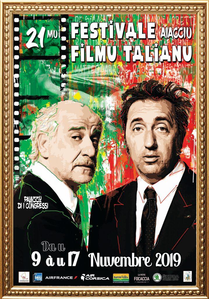 affiche 2019 du festival du film italien d'Ajaccio